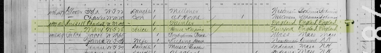 1880 Census Charles and Mary