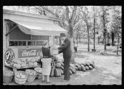 Making a Purchase at Farmers Stand