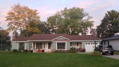 We painted the house in early spring, but here is this fall!